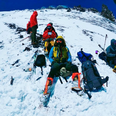 "DANIELA KROULÍKOVÁ REPORTS FROM ACONCAGUA: ""BASE CAMP REACHED!"""